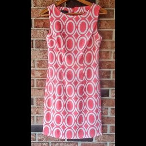 Alyx Coral White Printed Career Fitted Dress 4